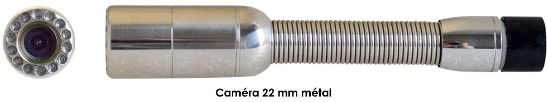 caméra 22 mm métal