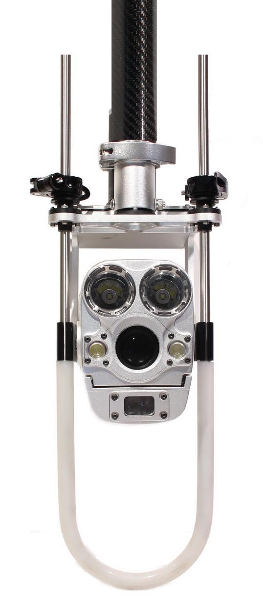 Perche caméra zoom d'inspection de regard télescopique