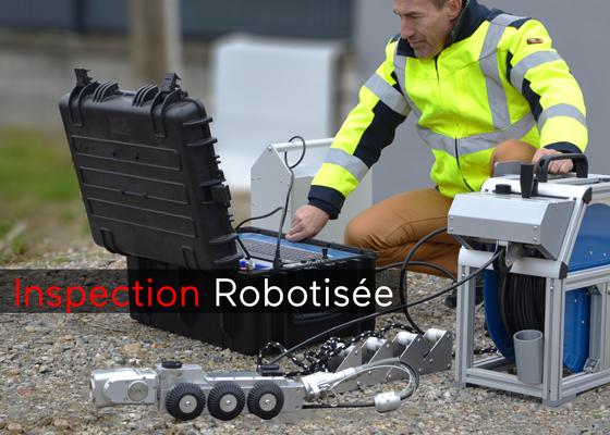 robot inspection sur chariot
